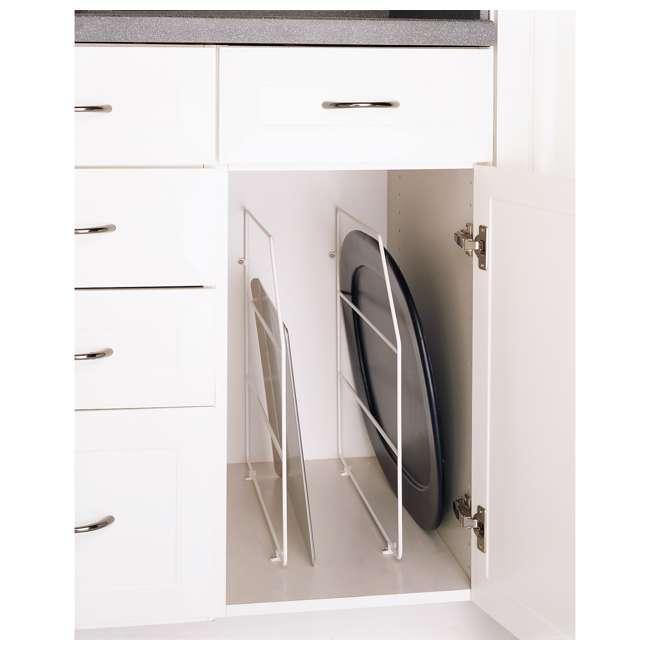 597-18-52 Rev-A-Shelf 597-18-52 18 Inch Bakeware Wire Kitchen Cabinet Organizer, White 2