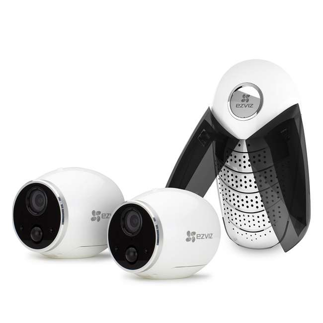 EZMINTRPB2G8 EZVIZ Mini Trooper 2-Camera Security System