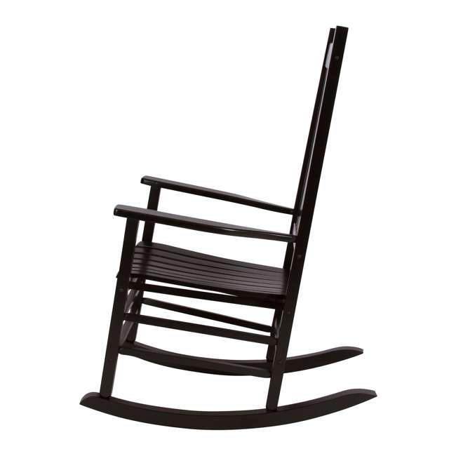 SHN-4332BK Shine Company Vermont Hardwood Outdoor Porch Patio Furniture Rocker Chair, Black 1