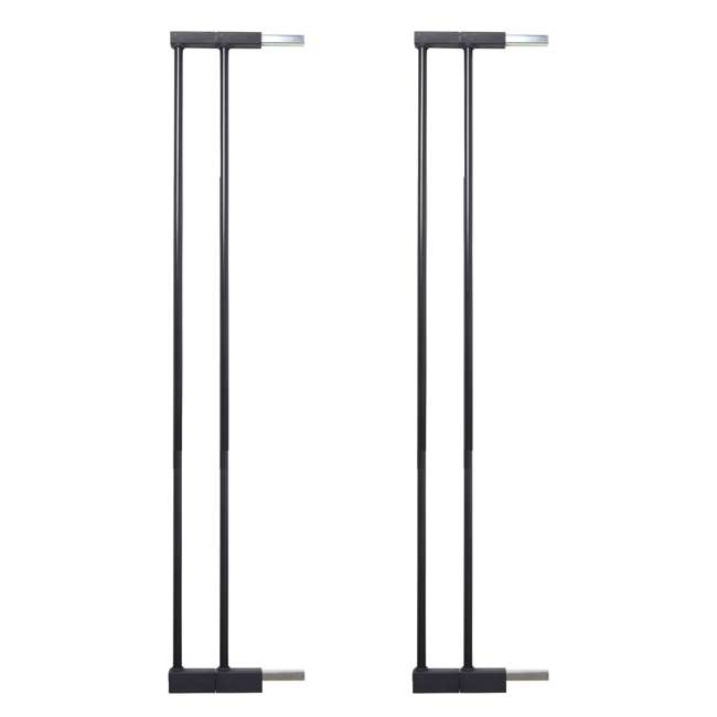 "BBD-5836-2600 BabyDan 5836-2600-10 Premier Extra Tall 3"" Pet Gate Extension, Black (2 Pack)"