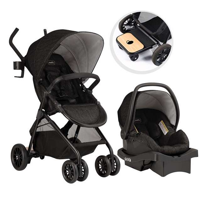 56231975 Sibby Travel System with LiteMax 35 Infant Car Seat (Charcoal)