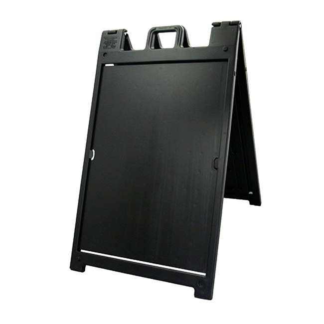 6 x 140NSBK Plasticade Deluxe Signicade Double-Sided Sign Stand, Black (6 Pack) 2