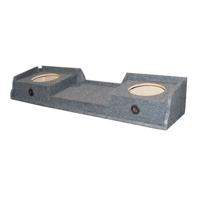 QGMC10DF + 2 x 43C104 + R1100M + 4GAMPKIT-SFLEX Kicker 10C104 Gmc Chevy Silverado Extended Cab '99-06 Dual Subwoofer Package Box Amp Wire (Pair) 7