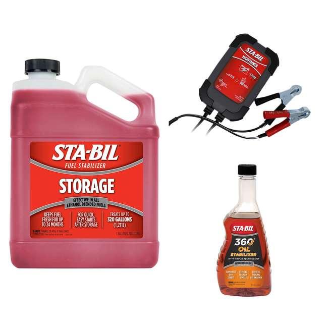 22213 + 22915 + 22402 STA-BIL Fuel Stabilizer + Battery Maintainer + Oil Stabilizer