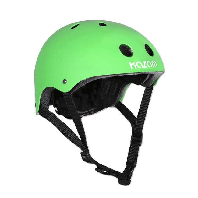 102-NXT + KZM15HGR NextGen Scooters 3 Wheeled Kick Scooter, Green & Kazam Helmet, Green 2