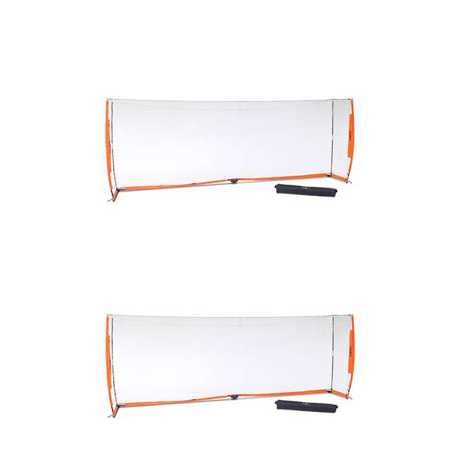 Bow6.6x18.5 Bownet 6.6' x 18.6' Portable Training Practice Soccer Goal (2 Pack)
