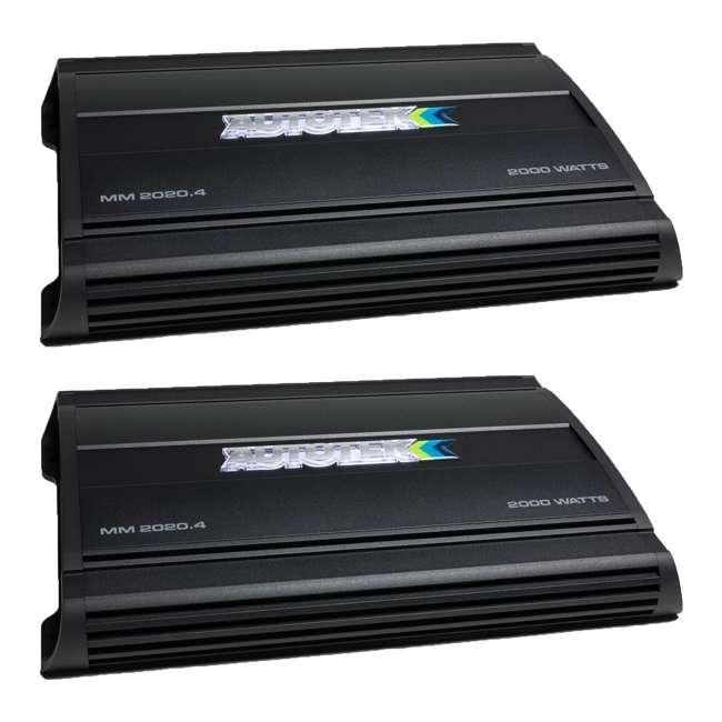 MM2020.4 Autotek MM2020.4 Mean Machine 2000-Watt 4-Channel Bridgeable Amp (2 Pack)