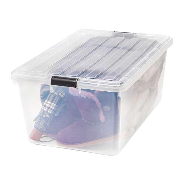 5 x 585380 IRIS USA 585380 68 Qt. Buckle Down Modular Storage Box Container, Clear (5 Pack) 4