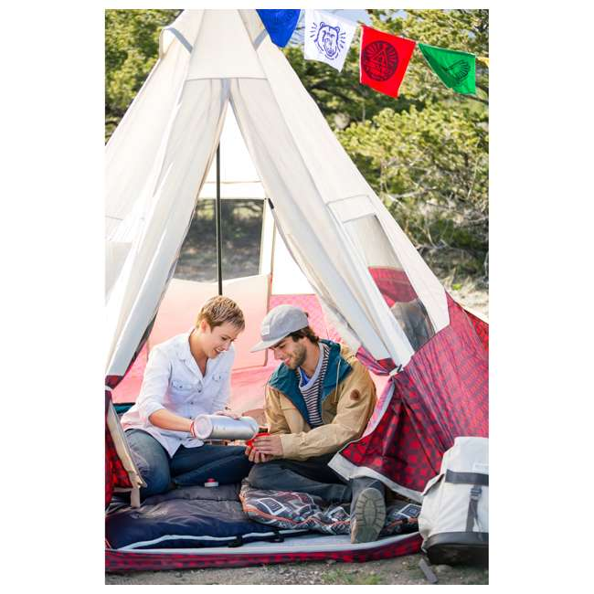7300818RBP Wenzel Shenanigan 5-Person Teepee Camping Tent, Red Buffalo Plaid 3