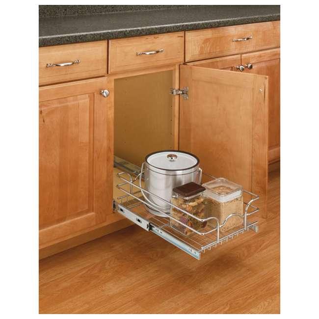 5WB1-1522-CR Rev-A-Shelf 5WB1-1522-CR 22 Inch Base Cabinet Pullout Single Wire Sink Basket 1