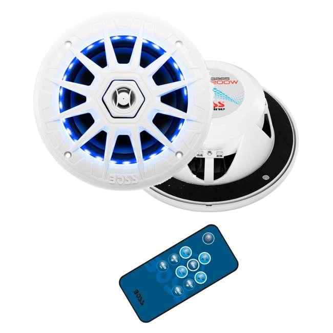 MRGB65 Boss Audio Marine 200W MRGB65 6.5 Inch Boat Light White Speakers Pair (Pair)
