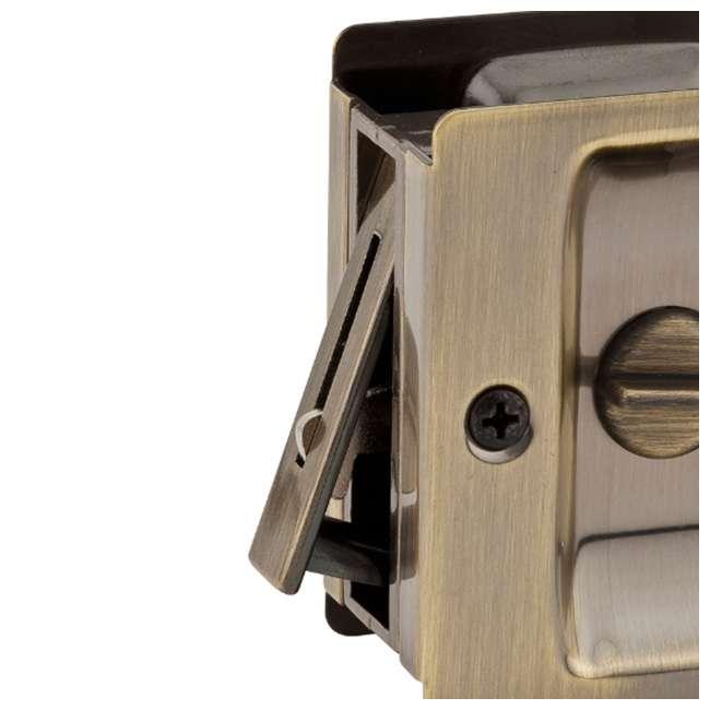 93330-002-U-A Kwikset Notch Bed Bathroom Privacy Pocket Sliding Door Pull & Lock (Open Box) 1