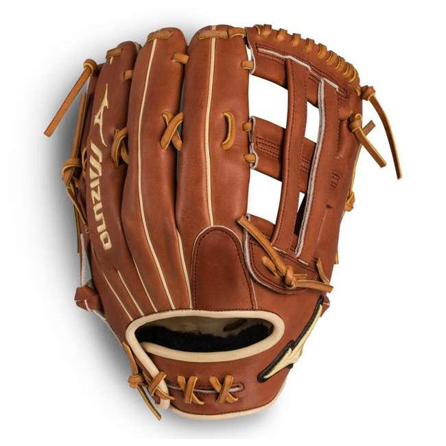 "312496.RG80.16.1275 Mizuno Pro Select Outfield 12.75"" Baseball Glove, Brown"