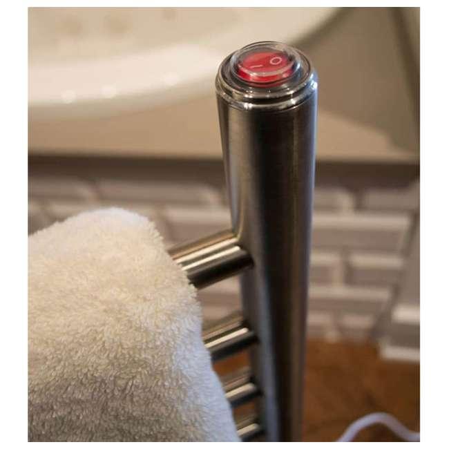 SAFSP-24-OB Amba Radiant 24 Inch Freestanding Straight Plug-In Towel Warmer, Polished Finish OPEN BOX 1