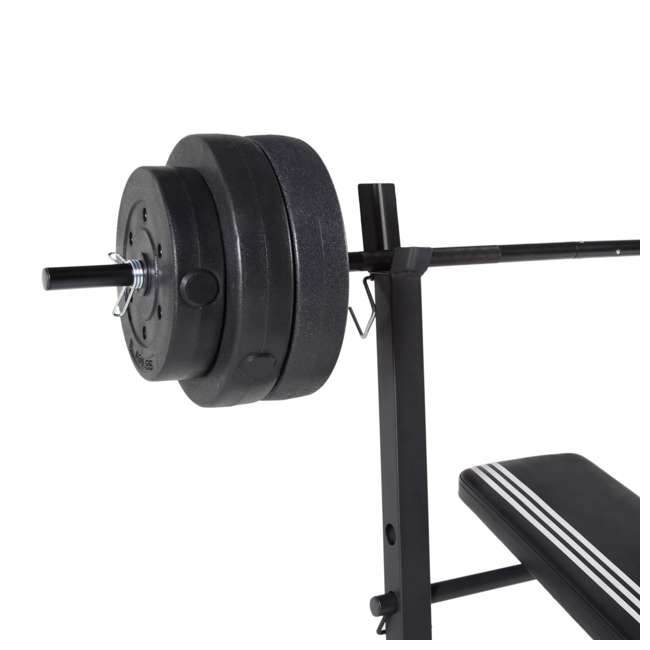 FMS-AD100P-3 ADIDAS COMBO TRAINING BENCH WITH WEIGHT SET, 100 LB 1