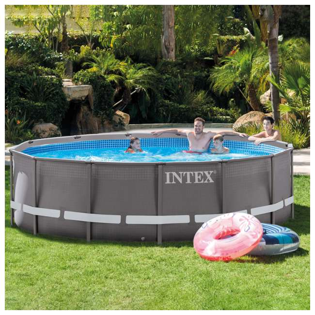 Intex 14 39 x 42 ultra frame pool with 1000 gph filter pump for Obi frame pool