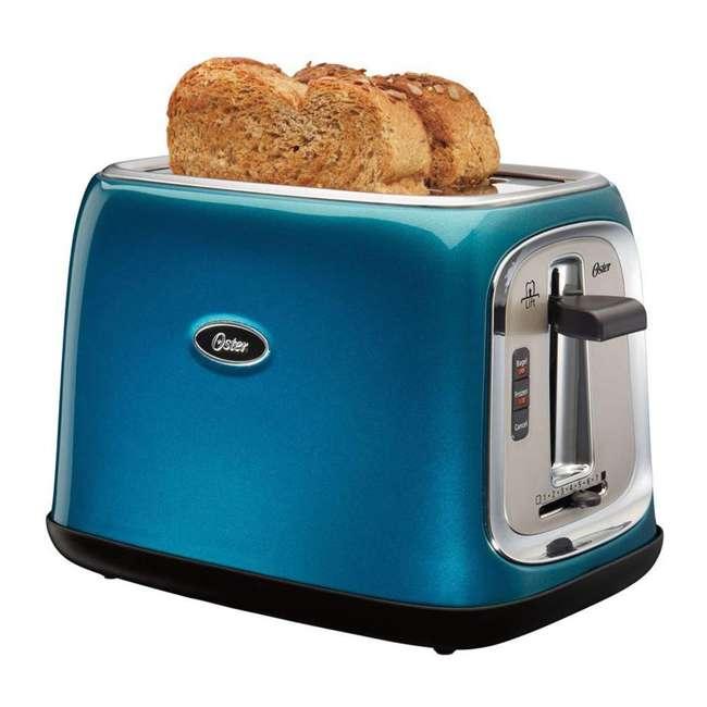 TSSTTRJB0T Oster TSSTTRJB0T 2-Slice Toaster with Extra Wide Slots Metallic, Turquoise Blue