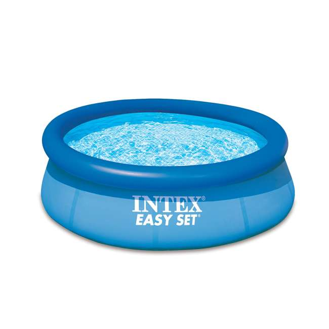 "28110E Intex 8' x 30"" Easy Set Inflatable Above Ground Swimming Pool 28110E (Open Box)"