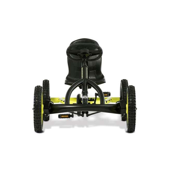 24.20.65.00 BERG Buddy Cross Kids Pedal Go Kart Ride On Toy w/ Axle Steering, Black & Yellow 4