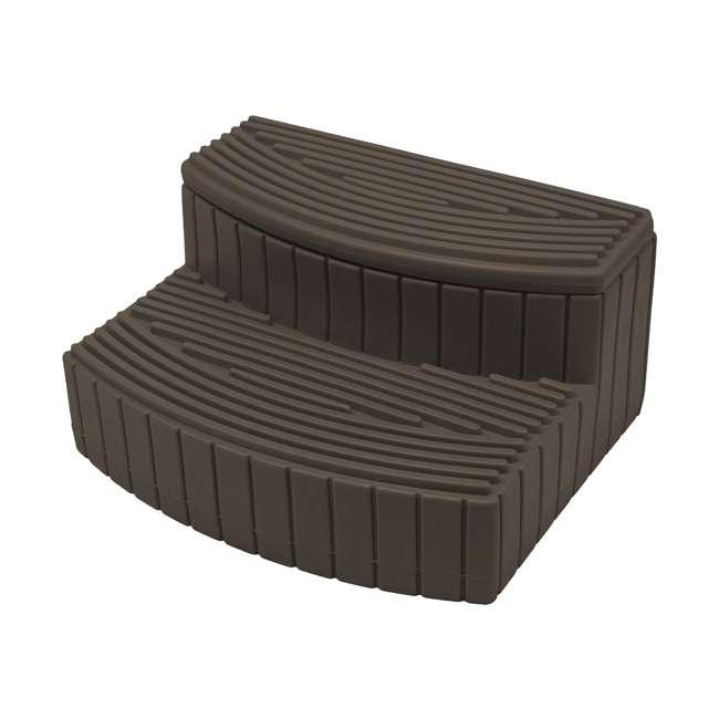 SSTEP-OAK Good Ideas Sora Steps Lightweight Plastic Outdoor & Indoor Storage Step, Oak