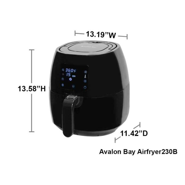 AB-AIRFRYER230B + 778805514 Avalon Bay Digital Air Fryer w/ Firefly Books Cookbook 3