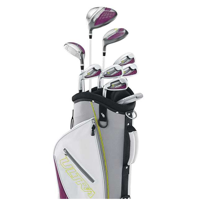 WGGC4340L + WGWP40150 Wilson Ultra Ladies Left-Hand Super Long Golf Club Bag Set & Balls 6