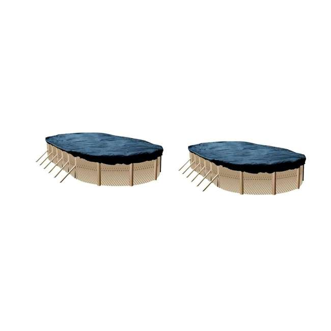 S1625OV Swimline 16 x 25 Foot Oval Above Ground Pool Cover (2 Pack)