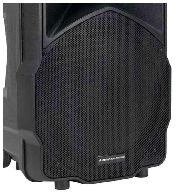 american audio 15 inch 2 way portable powered speaker ltx15bt. Black Bedroom Furniture Sets. Home Design Ideas