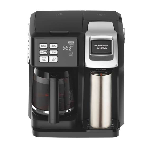 49976 + 80675R Hamilton FlexBrew Programmable Coffee Maker & Permanent Coffee Filter 4