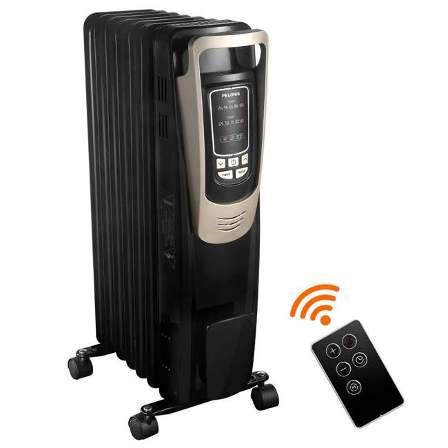 PH-14A Pelonis Oil Filled Radiator Portable Space Heater with Programmable Thermostat