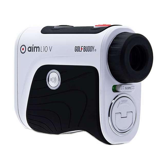 AIM-L10V + GB-BATTPACK-RG-2 GolfBuddy Aim L10V Golf Distance Talking Rangefinder + USB Charging Power Pack 3