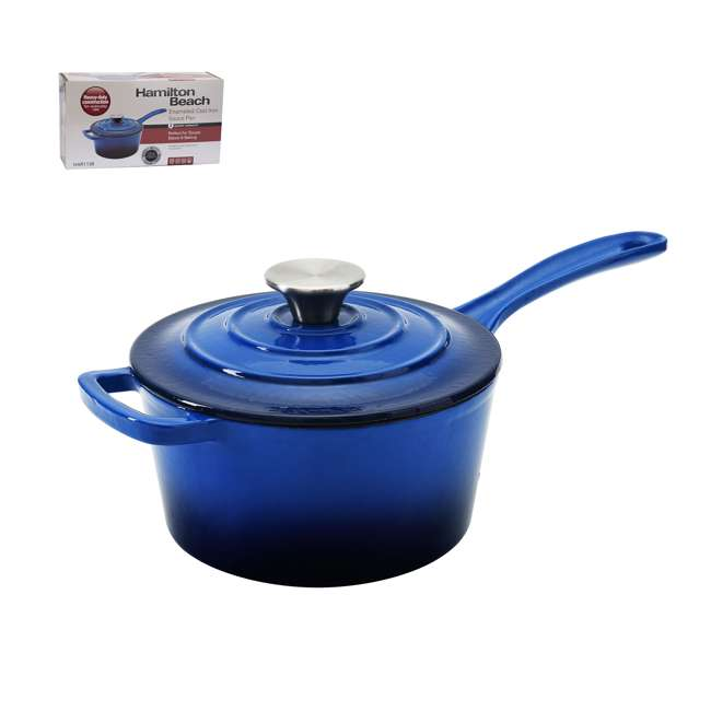 HAR101B + HAR113B Hamilton Beach Dutch Oven Pot & Sauce Pan, Blue 4