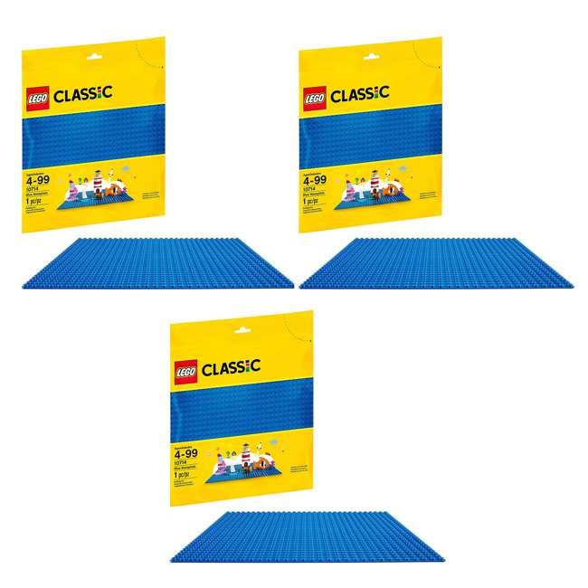 3 x 6213433 32 x 32 LEGO Baseplate, Blue (3 Pack)
