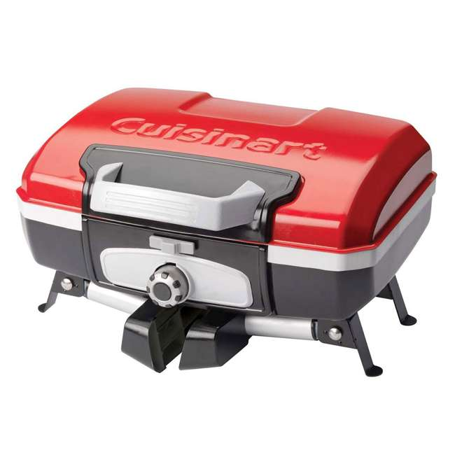 CGG-180T Petite Gourmet Mini Gas-Fueled Outdoor Grill, Red 2