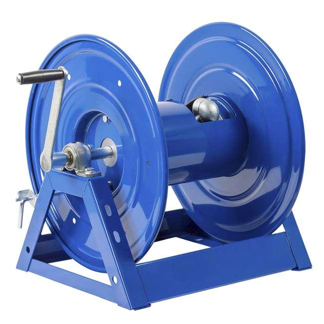 1125-4-100 Coxreels Steel Hand Crank Hose Reel 100 Foot Capacity, Blue
