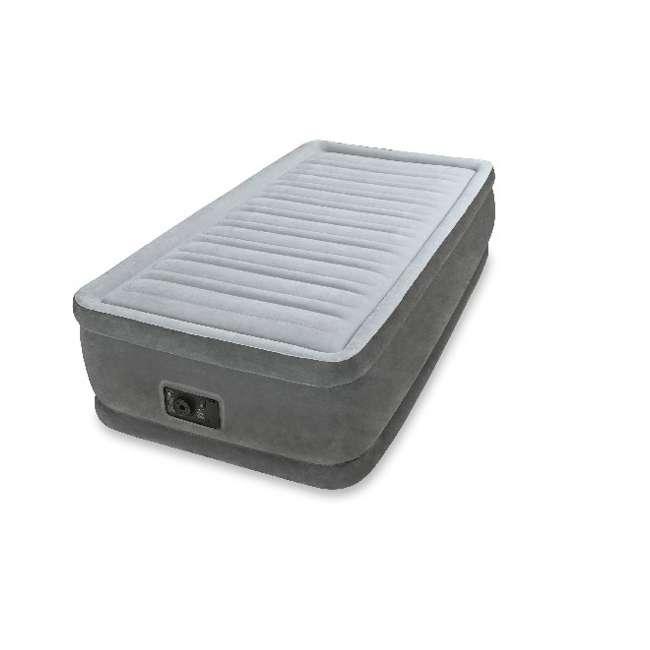 4 x 64411E-U-A Intex Comfort Plush Elevated Dura-Beam Airbed w/ Pump - Twin (Open Box) (4 Pack)