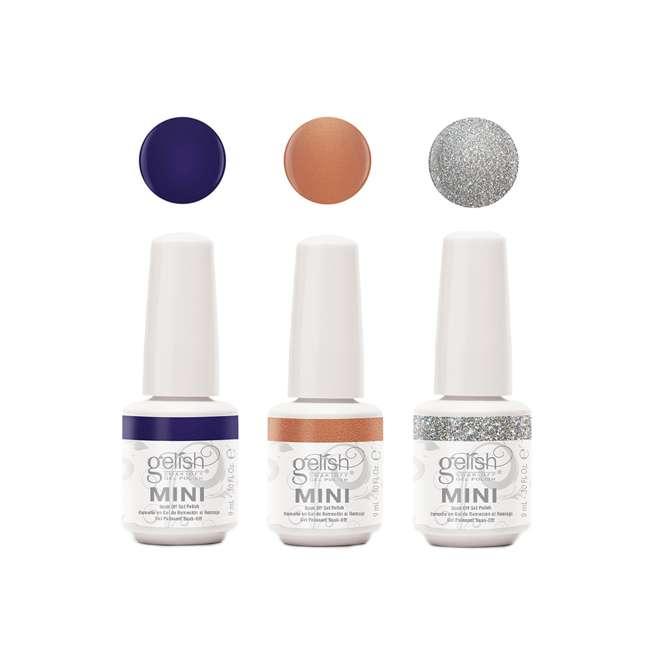 1900204-CHAMPAGNE3P1 Gelish Mini Soak Off 3 Color Nail Polish Set, Champagne & Moonbeams Collection
