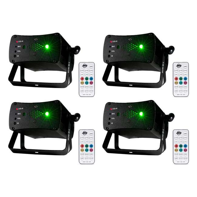 4 x MICRO-3DII American DJ Micro 3D Green & Red Laser Lighting Effect (4 Pack)