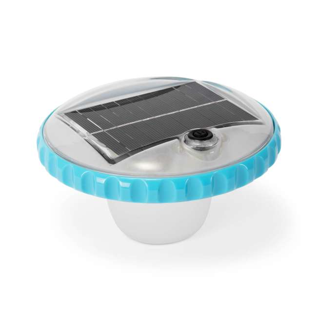 28695E Intex 28690E 3 Color Changing Solar Powered Auto On LED Floating Pool Light
