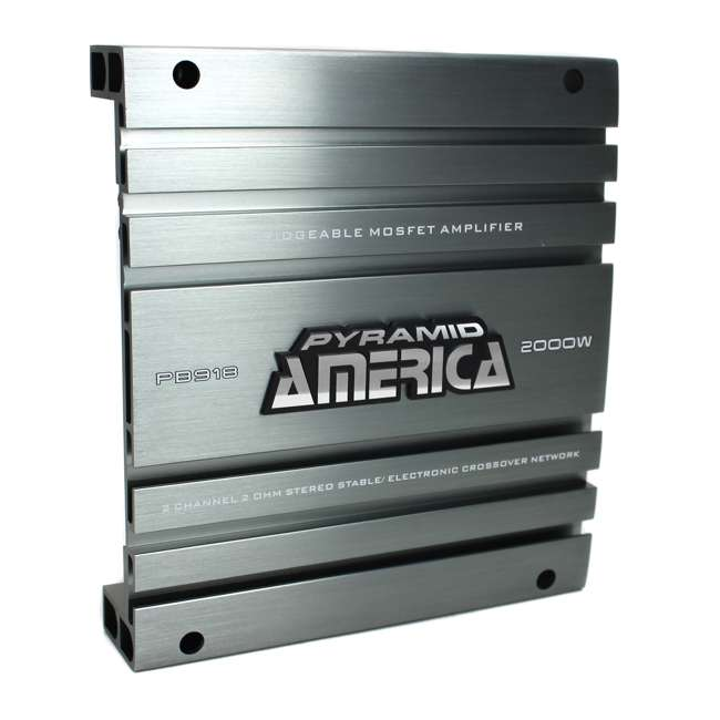 PB918 Pyramid PB918 2000W 2 Channel Amplifier (2 Pack) 1