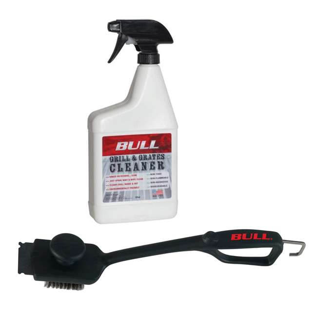 BOPA-25160 + BOPA-24238 Bull Grill and Grate Cleaner & Dual Handle Grill Brush