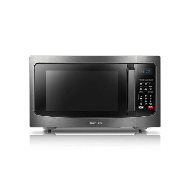 EC042A5C-BS 1.5 Cubic Foot Compact Convection Microwave Oven, Black