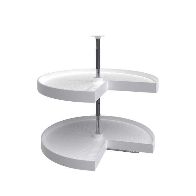 LD-2942-28-11-1 Rev-A-Shelf LD-2942-28-11-1 28 Inch White Polymer Pie Cut 2 Shelf Lazy Susan