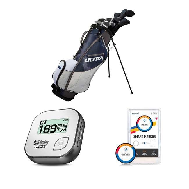 WGGC43600 + GB7-VOICE2-GREY + PGSMGps Wilson Men's Golf Clubs + Golf Buddy GPS Range Finder + Golfwith Smart Marker