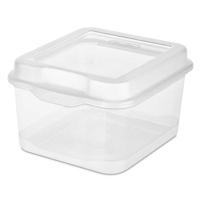 36 x 18038612-U-A Single Sterilite Plastic Latching Storage Container Clear (36 Pack) (Open Box)