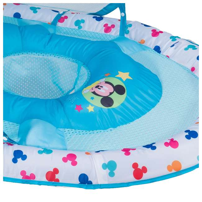 25440-SW-U-A SwimWays Inflatable Infant Baby Pool Float w/ Canopy, Mickey Mouse (Open Box) 2