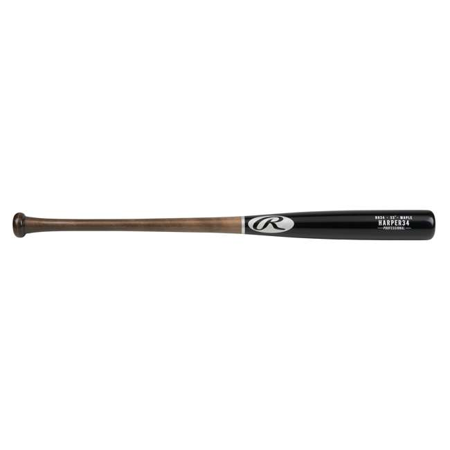 6 x BH34PL-33inch Rawlings Bryce Harper Maple Pro Label 33-Inch Wood Baseball Bat (-3 Drop) (6 Pack) 1