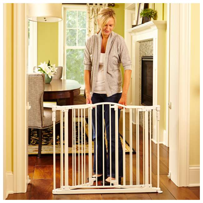 North States Deluxe Decor Baby Pet Metal Gate Linen 38