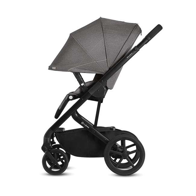 518001059-U-A Cybex Balios S 3 in 1 Folding Stroller, Lava Stone Black (Open Box) 1