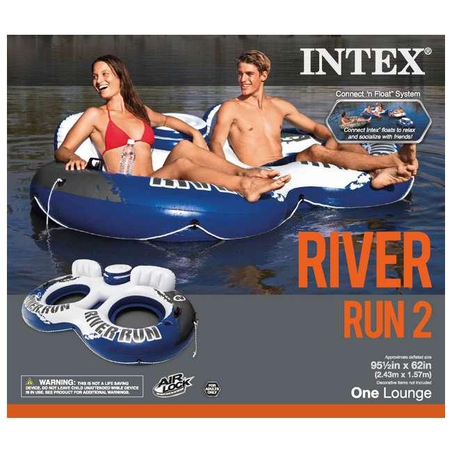 12 x 58837EP-U-A Intex River Run II 2 Person Float w/ Cooler & Repair Kit  (Open Box) (12 Pack) 5